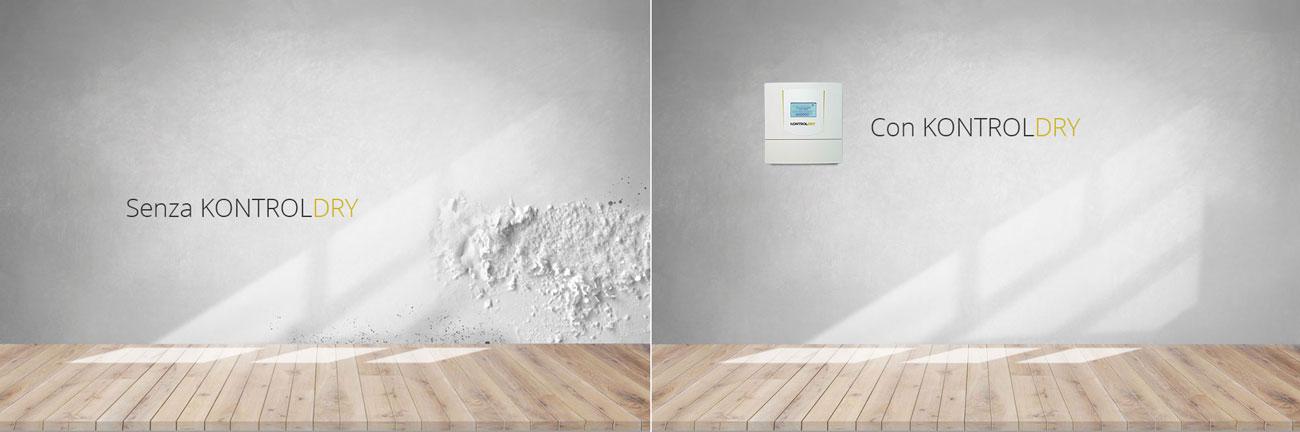 Eliminare umidità dai muri prima e dopo