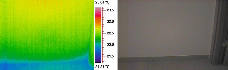 Umidità di risalita termografia dodici mesi dopo installazione dispositivo KontrolDry