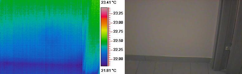 Umidità di risalita termografia prima dell'installazione dispositivo KontrolDry